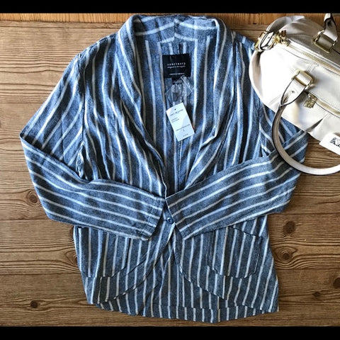Sanctuary Striped Casual Blazer
