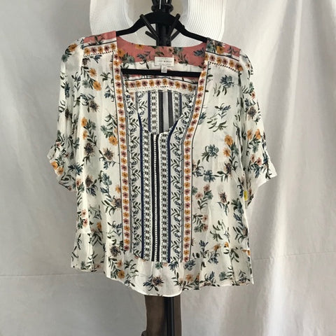 Short Sleeve Boho Blouse