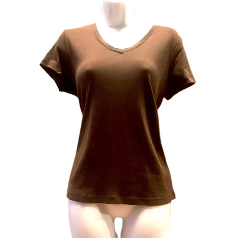 Womens V Neck Short Sleeve T-Shirt