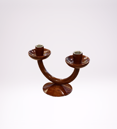 Handcrafted Traditional Wooden Candle Stand Wooden Handicrafts