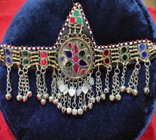Load image into Gallery viewer, Afghan Head Piece Traditional Handmade Multicolor Mathapatti