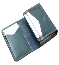 Load image into Gallery viewer, Vertical Foldable Leather Wallet