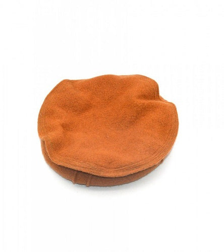 Orange Chitrali Woolen Warm Cap Afghan Chitral Pakol Traditional Hat