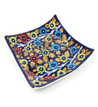 Load image into Gallery viewer, Blue Pottery Plate Large Square