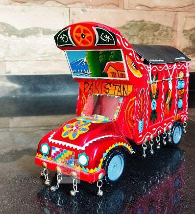 Handcrafted Wooden Traditional Truck for Decoration Wooden Handicrafts