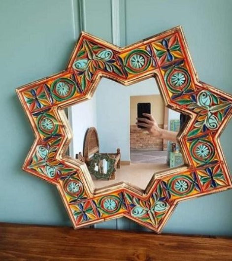 Handcrafted Traditional Mirror Frame Handmade Craft