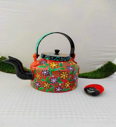 Hand Painted Traditional Tea Kettle Pakistani Handicrafts