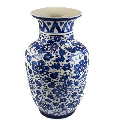 Handcrafted Blue Pottery Vase