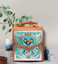 Load image into Gallery viewer, Handmade Traditional Ethnic Chamakpatti Truck Art Themed Cross Bag Pakistani Handicrafts