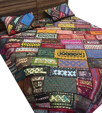 Handcrafted Traditional Bed Cover King Size Handmade Craft