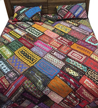 Load image into Gallery viewer, Handcrafted Traditional Bed Cover King Size Handmade Craft