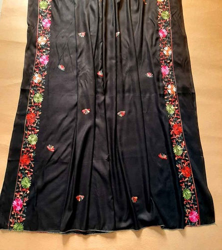 Handmade Embroidered Linen Shawl Traditional Ladies Shawl