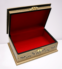 Load image into Gallery viewer, Golden Lacquer Jewelry box
