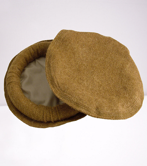 Light Brown Afg Pakol Chitrali Cap Traditional Woolen Hat
