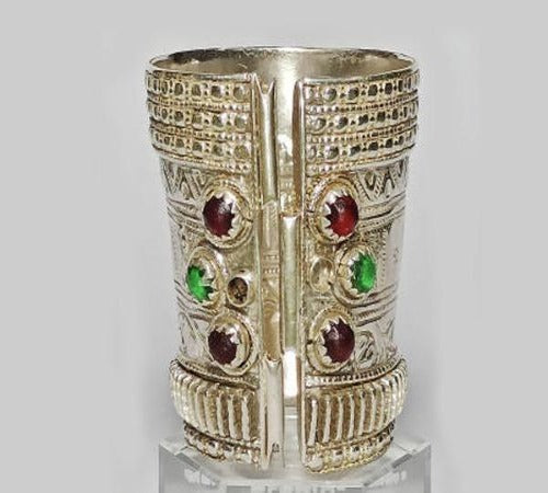 Silver Turkish / Afghani Style Handmade Traditional Antique Golden Long Arm.