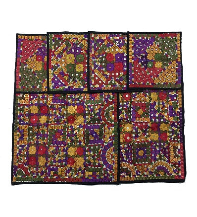 Handcrafted Traditional Cushion Covers 6 Pieces Set Handmade Craft