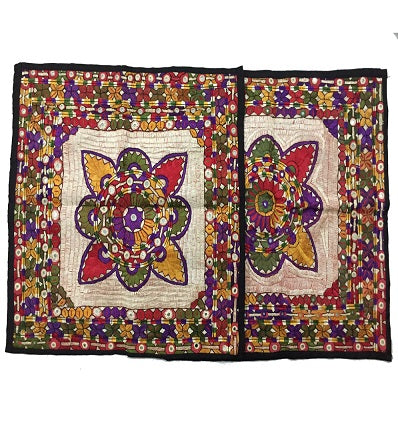 Handmade Embroidered Floor Cushion Covers Set.