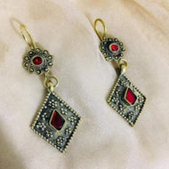 Tribal Afghan Dangle Earrings