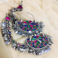 Ethnic Afghan Bali Earrings With Sahara