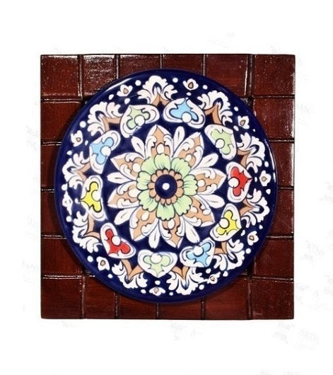 Handmade Traditional Wall Hanging Wooden Framed Plate Wooden Handicrafts