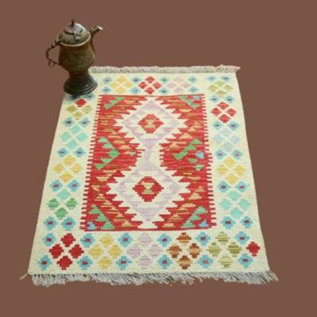 Hand Knotted Kilim Rug Pakistani Handicrafts Handmade Craft