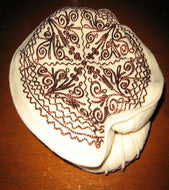 Ivory Embroidered Woolen Traditional Hat Afghan Pakol Chitrali Cap