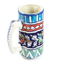 Load image into Gallery viewer, Handmade Blue Pottery Large Shake Mug