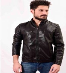 Handcrafted Men Leather Jacket Pakistani Handicrafts