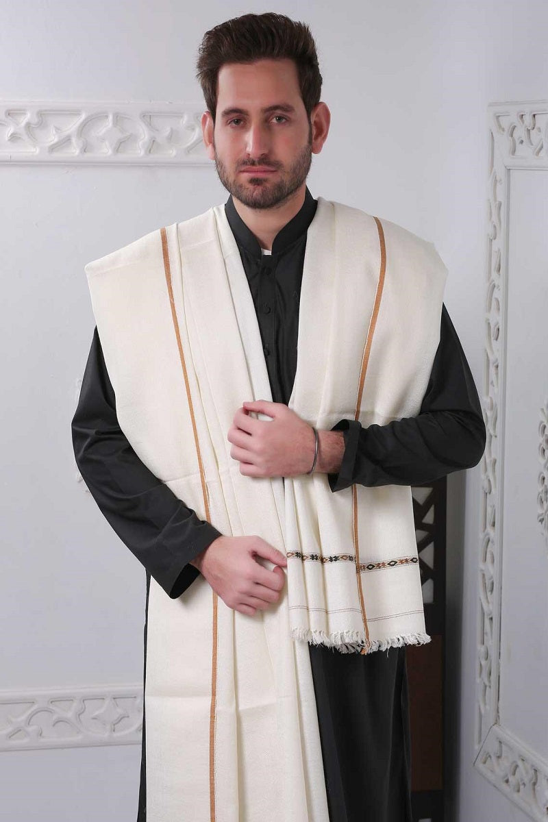 Embroidered Men Pashmina Shawl