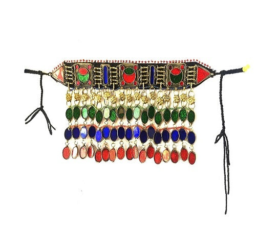Afghan Multicolor Handmade Traditional Ethnic Style 3 Layers Necklace