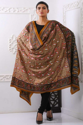 Traditional Embroidered Pashmina Shawl