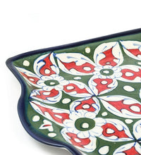 Load image into Gallery viewer, Handmade Blue Pottery Pizza Dish Rectangular