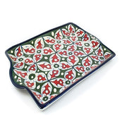 Handmade Blue Pottery Pizza Dish Rectangular
