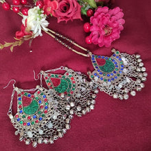 Load image into Gallery viewer, Tribal Kuchi Necklace And Afghan Earring Set