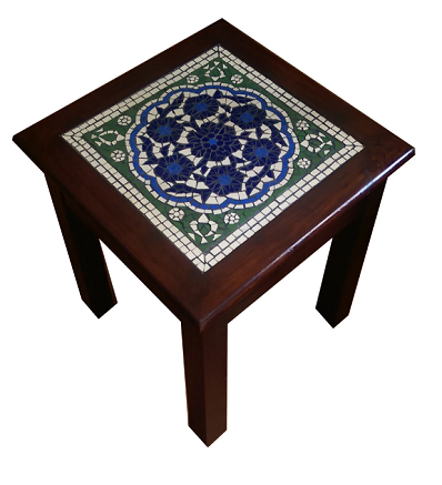 Handmade Forget Me Not End Table Pakistani Handicrafts
