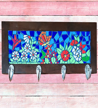 Load image into Gallery viewer, Handmade Mosaic Coat Rack Pakistani Handicrafts