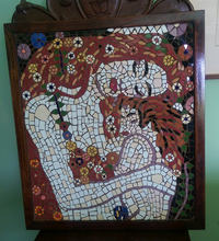 Load image into Gallery viewer, Handmade Mother and Child Klimt Mosaic Pakistani Handicrafts
