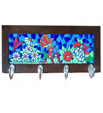 Handmade Mosaic Coat Rack Pakistani Handicrafts