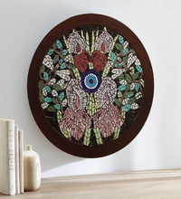 Load image into Gallery viewer, Handmade Orchid Large Evil Eye Art Pakistani Handicrafts