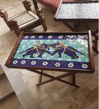 Load image into Gallery viewer, Mughal Elephants Mosaic Tray