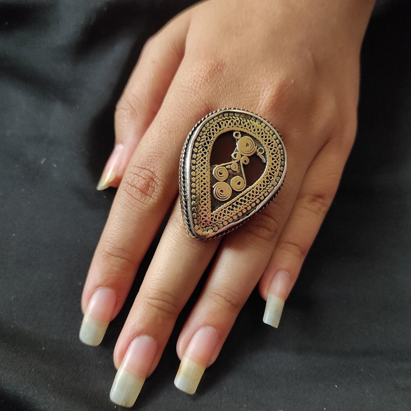 Afghan Kuchi Ring with Stones