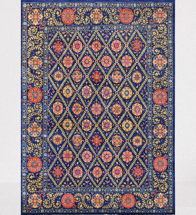 Hand Knotted Traditional Suzani Carpet Pakistani Handicrafts