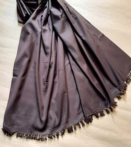 Plain Chocolate Handcrafted Traditional Ladies Shawl