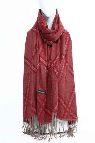 Handmade Woven Pure Pashmina Cashmere Scarf Stole Soft Wrap Shawl