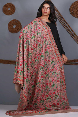 Traditional Embroidered Pure Pashmina Shawl