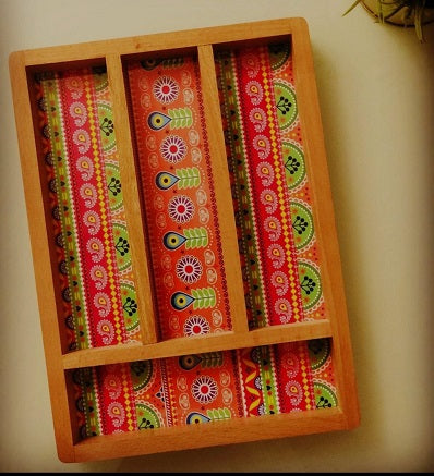 Handcrafted Traditional Cutlery Tray Handmade Craft