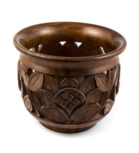 Load image into Gallery viewer, Wooden Carved Round Bowl