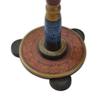 Load image into Gallery viewer, Handcrafted Round Wooden Corner Table With Carving Art Wooden Handicrafts