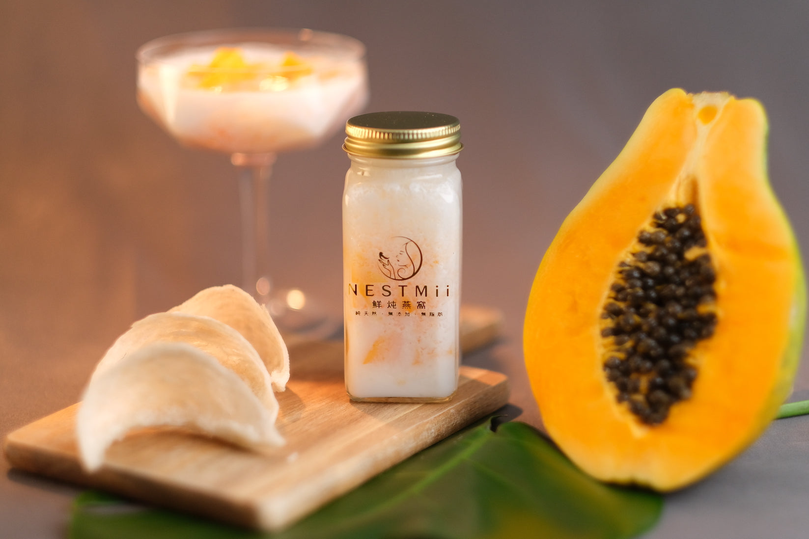 Papaya and Coconut Milk Birdnest Parfait <br>椰奶木瓜鲜炖燕窝</br>