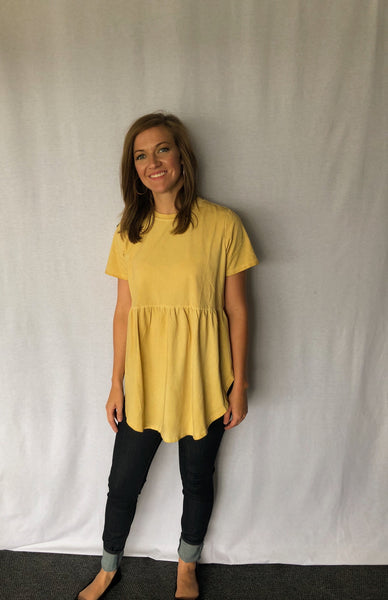 Honey Oil Washed Tunic Top